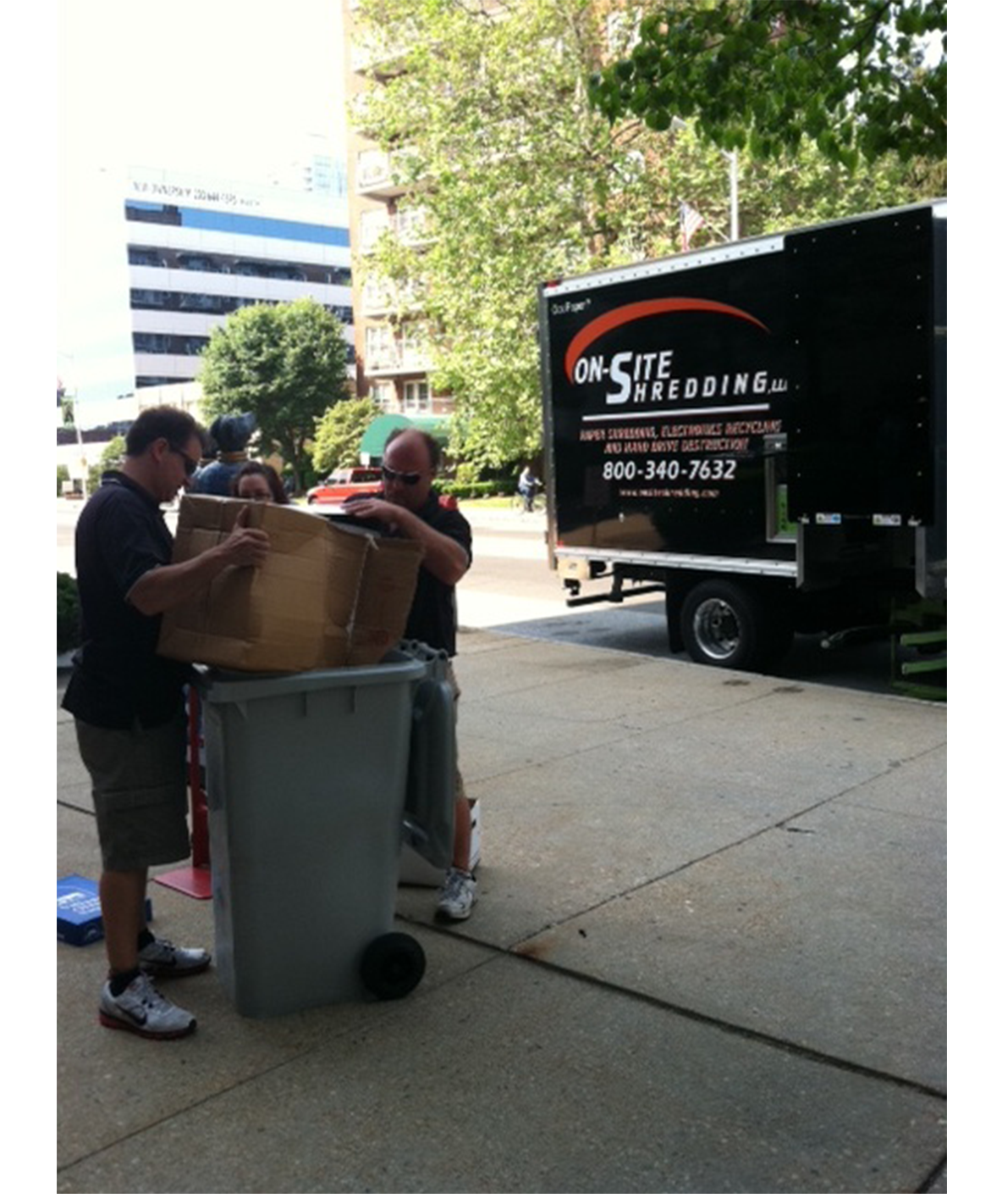 OnSite Shredding team at work
