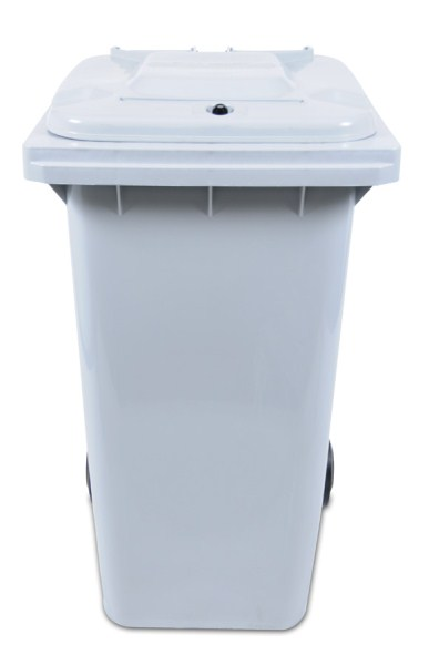 Front-view, white shredder